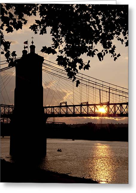 Roebling Silhouette Greeting Card