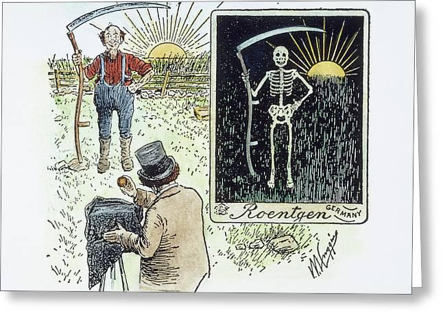 Roentgen X-ray Cartoon Greeting Card