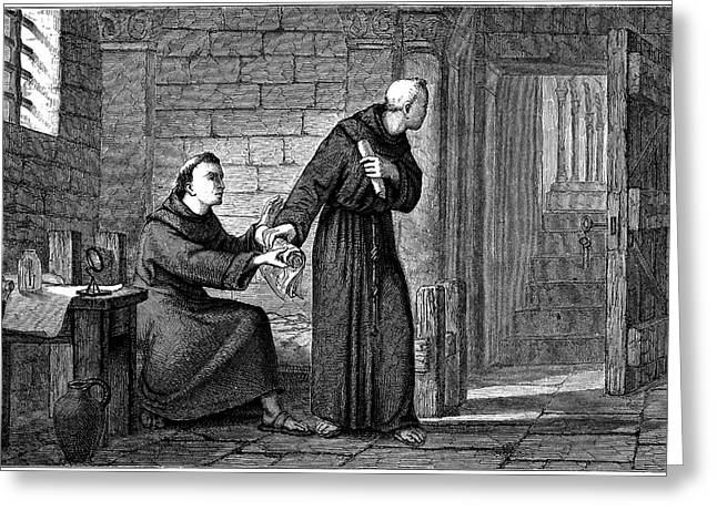 Roger Bacon Greeting Card by Universal History Archive/uig