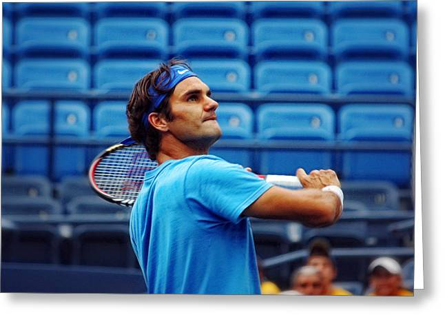 Roger Federer  Greeting Card by Nishanth Gopinathan