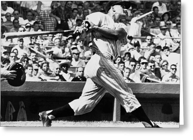 Roger Maris Hits 52nd Home Run Greeting Card by Underwood Archives