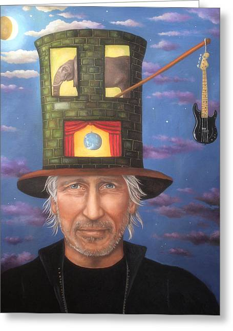 Roger Waters Edit 3 Greeting Card by Leah Saulnier The Painting Maniac