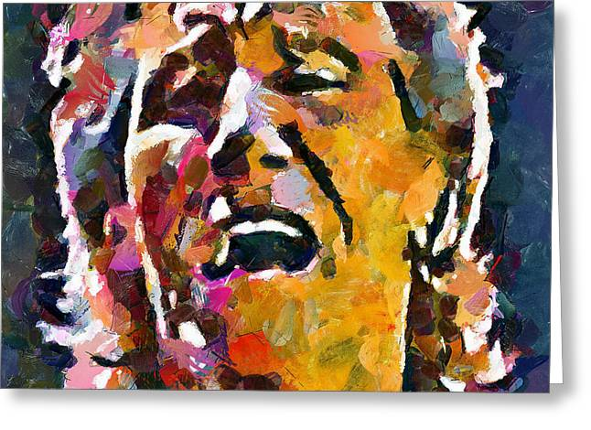 Roger Waters Pink Floyd Greeting Card by Yury Malkov