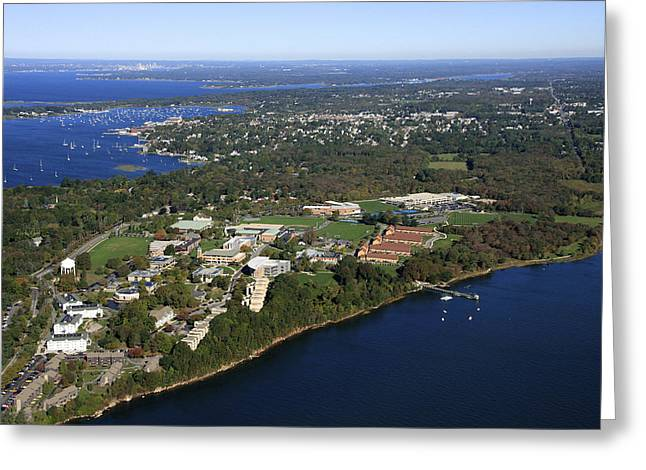 Roger Williams University, Bristol Greeting Card by Dave Cleaveland