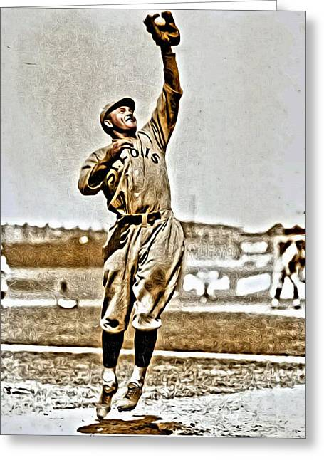 Rogers Hornsby Greeting Card by Florian Rodarte