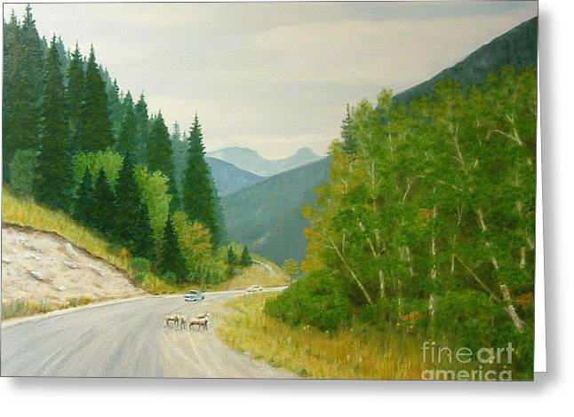 Rogers Pass Bc Greeting Card