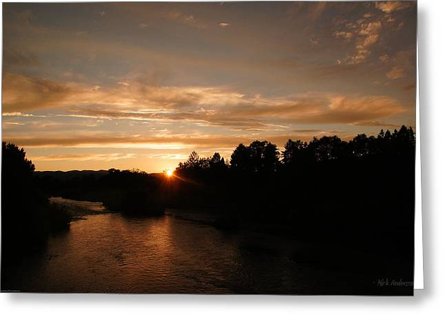 Rogue August Sunset Greeting Card