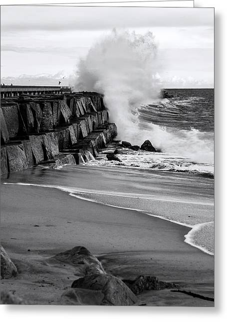 Rogue Bullet Wave Cabrillo Beach By Denise Dube Greeting Card