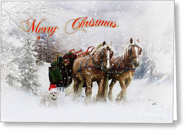 Merry Christmas Greeting Card by Shanina Conway