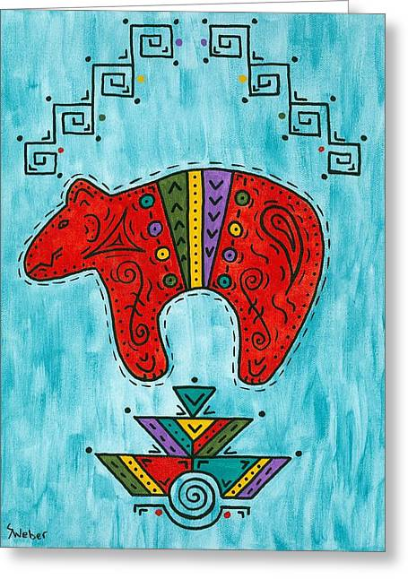 Rojo Oso Greeting Card