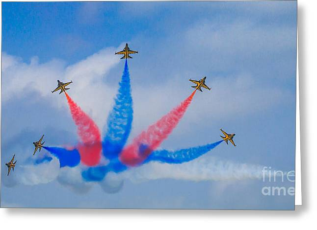 Rokaf Aerobatic Team Greeting Card