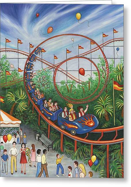 Roller Coaster Greeting Card