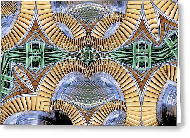 Roller Coaster Greeting Card by Ron Bissett