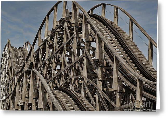 Roller Coaster Greeting Card