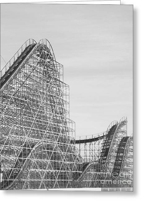 Roller Coaster Wildwood Greeting Card by Eric  Schiabor