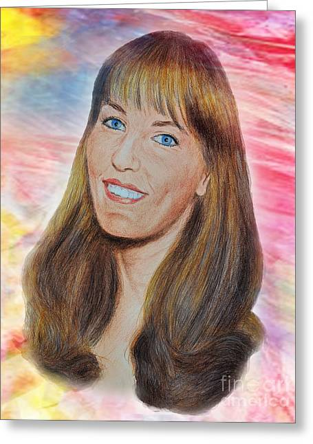 Roller Derby Star Lovely Barbara Baker Greeting Card