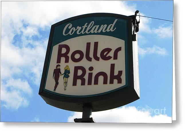 Roller Rink Greeting Card by Michael Krek
