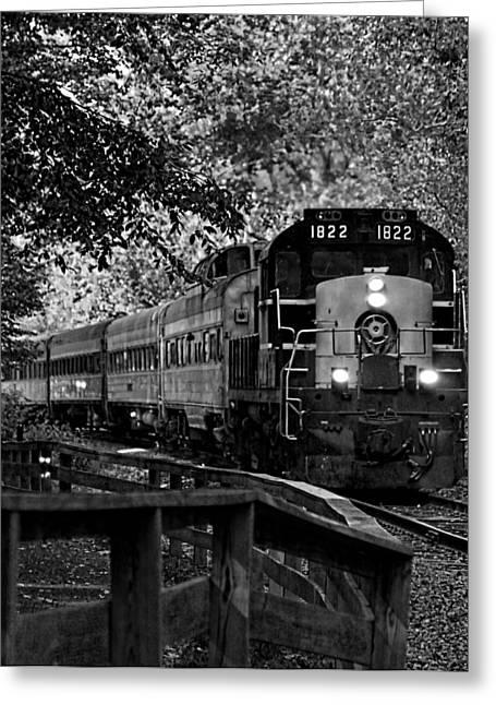 Rollin' Down The Tracks Greeting Card by David Stine