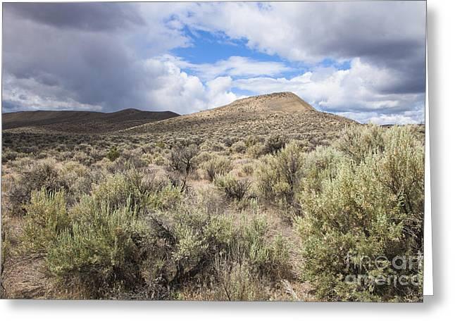 Rolling Desert Hills Greeting Card by Sheri Van Wert