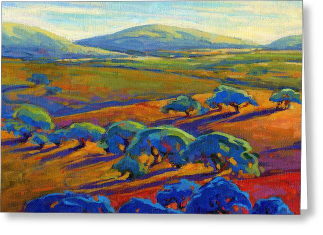 Greeting Card featuring the painting Rolling Hills 2 by Konnie Kim