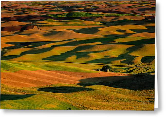 Rolling Hills Of Time Greeting Card