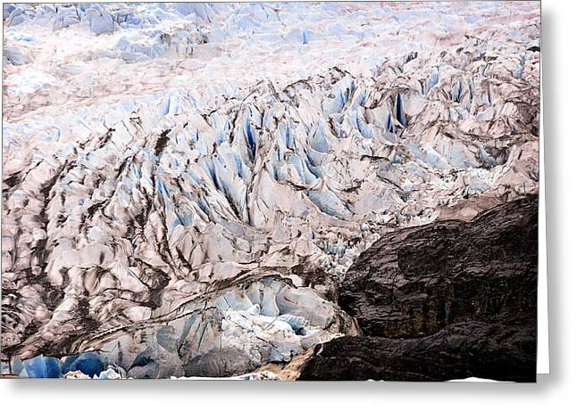 Greeting Card featuring the photograph Rolling Ice Peaks by Davina Washington