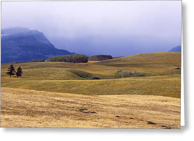Rolling Landscape With Mountains Greeting Card by Panoramic Images