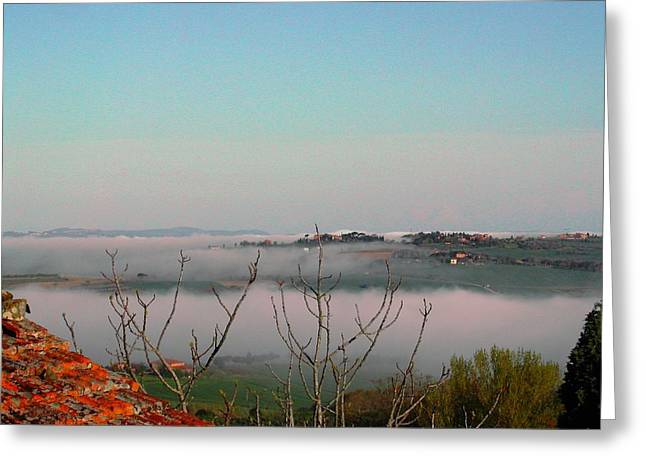 Rolling Mist Greeting Card by Dorothy Berry-Lound