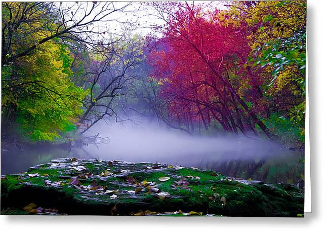 Rolling Mist On The Wissahickon Creek Greeting Card