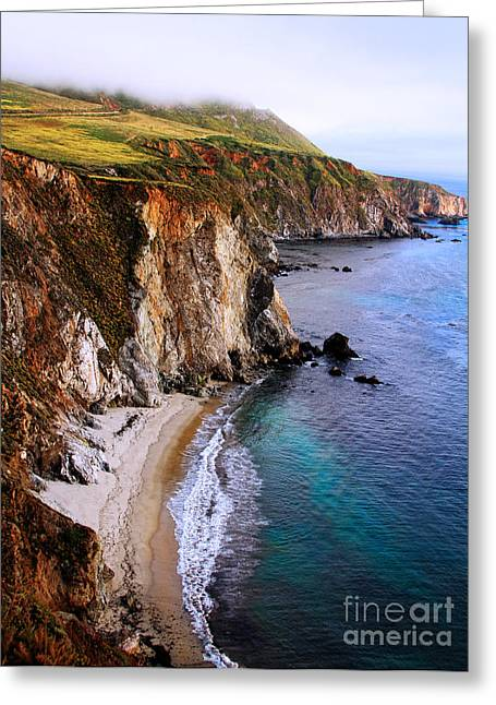 Rolling Over Big Sur By Diana Sainz Greeting Card by Diana Sainz
