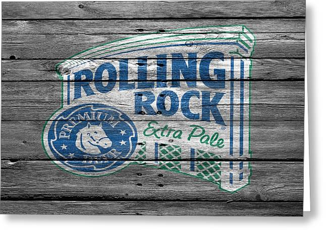 Rolling Rock Greeting Card
