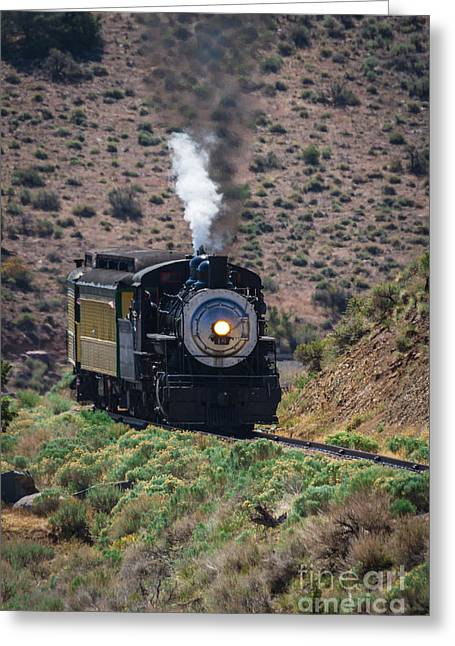 Rolling Round The Bend  Greeting Card by Mitch Shindelbower