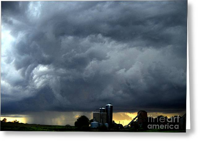 Rolling Thunder Over Nebraska Greeting Card by Gerald MacLennon