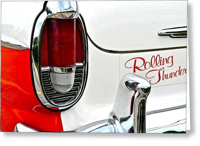 Rolling Thunder Greeting Card by Frozen in Time Fine Art Photography