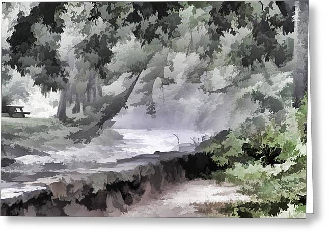 Rolling Waters Greeting Card by Trish Tritz
