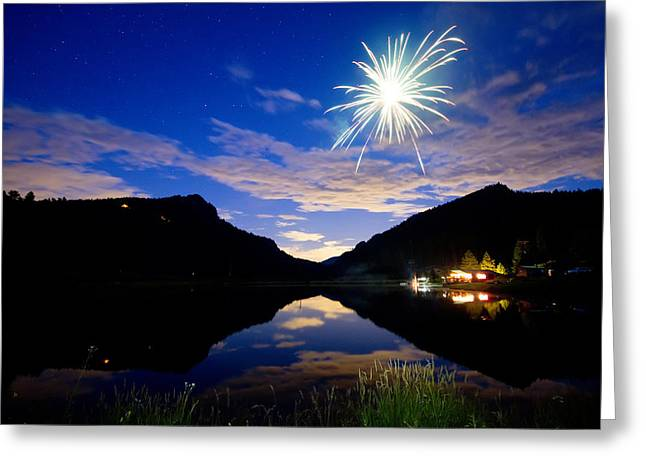 Rollinsville Yacht Club Fireworks Private Show 52 Greeting Card by James BO  Insogna