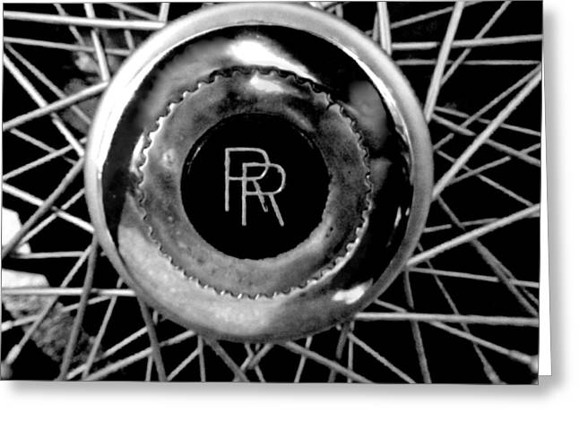 Rolls Royce - Black And White Greeting Card