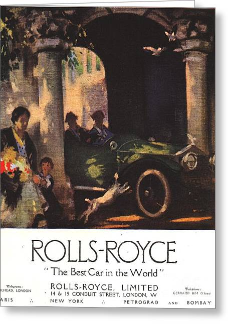 Rolls-royce 1917 1910s Uk  Cars Greeting Card by The Advertising Archives