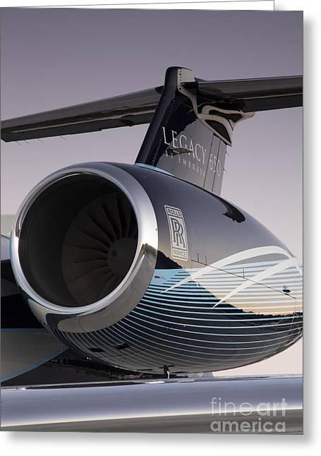 Rolls-royce Ae 3007a2 On Embraer Legacy 650 Greeting Card by Dustin K Ryan