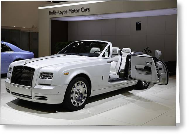 Rolls-royce Open Door Greeting Card