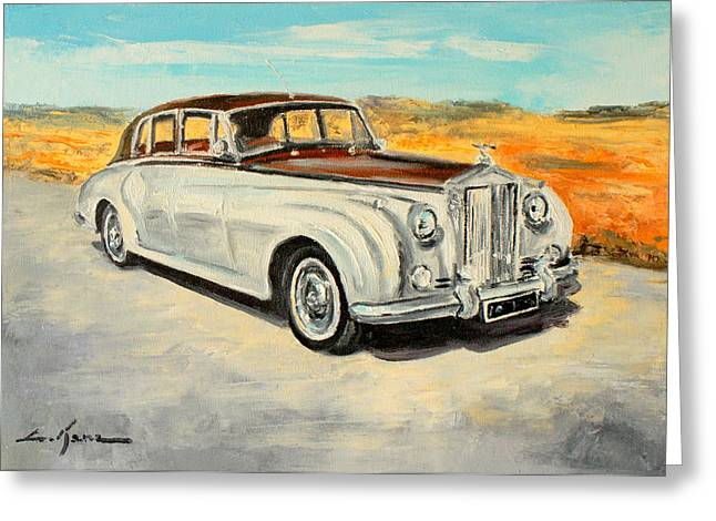 Rolls Royce Silver Cloud Greeting Card