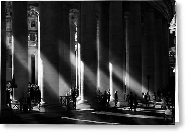 Roma - Piazza San Pietro, Citta? Del Vaticano Greeting Card