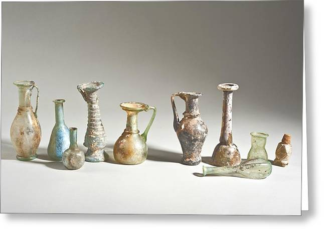 Roman And Islamic Period Glass Bottles Greeting Card