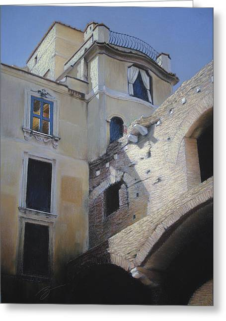 Roman Apartments - Pastel Greeting Card