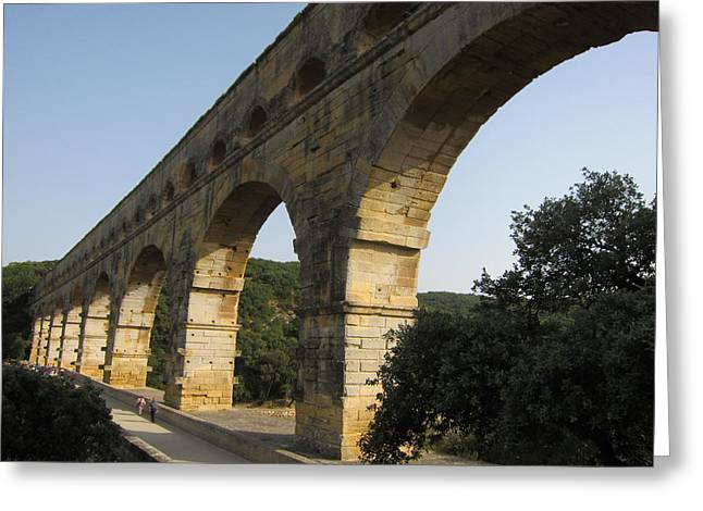 Roman Aqueduct Greeting Card by Pema Hou