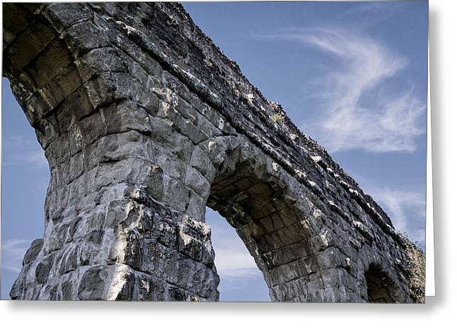 Roman Aqueducts II Greeting Card by Joan Carroll