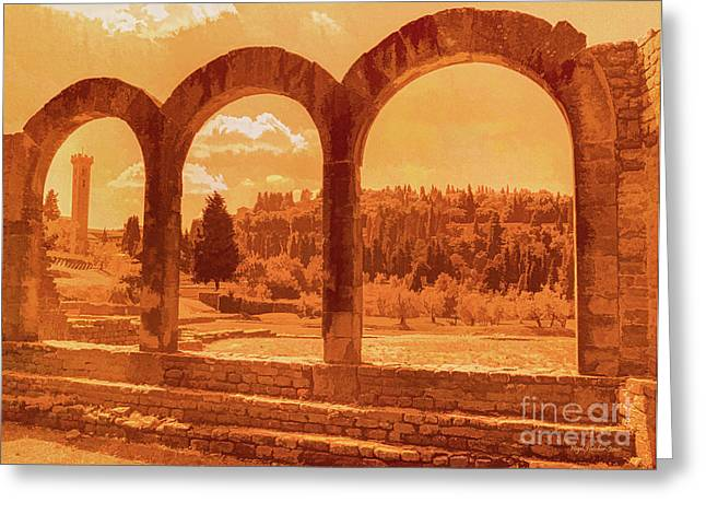 Roman Arches At Fiesole Greeting Card
