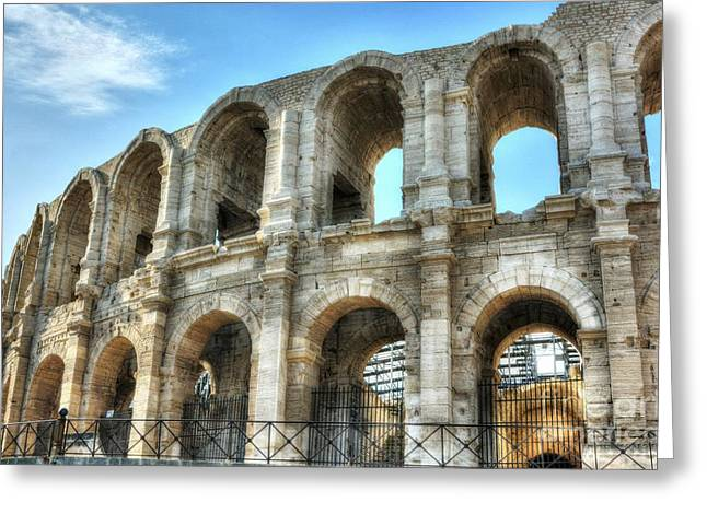Roman Arena At Arles 2 Greeting Card