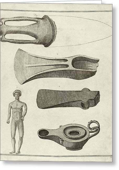 Roman Artefacts Greeting Card by Middle Temple Library