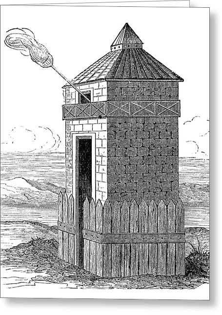 Roman Beacon Tower Greeting Card by Science Photo Library